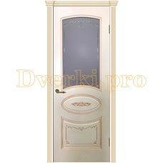 Дверь Вуаль эмаль RAL1013, остекленная