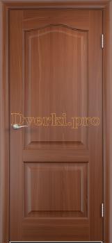 2231, Дверь Классика итальянский орех, глухая, 21360, 2 595.00 р., 2231-01, , Двери облицованные ПВХ