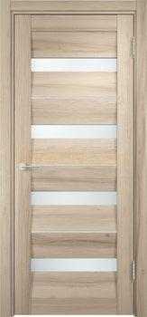 1493, Дверь Сицилия 12 капучино, остекленная, белый триплекс, 18962, 9 660.00 р., 1493-01, , Двери экошпон Премиум