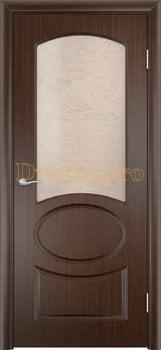 577, Дверь Неаполь венге, остекленная, 11684, 4 705.00 р., 577-01, , Двери облицованные ПВХ