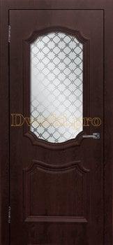 3482, Дверь Асти (объемный багет) шоколад, остекленная, 26989, 5 080.00 р., 3482-01, , Двери облицованные ПВХ
