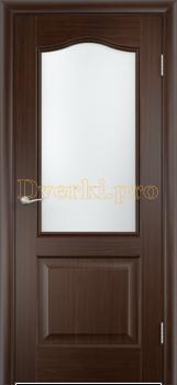 2248, Дверь Классика венге, остекленная, 21377, 4 140.00 р., 2248-01, , Двери облицованные ПВХ