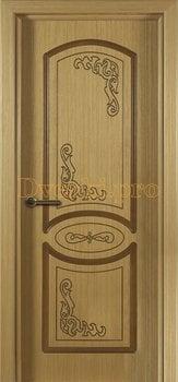 1078, Дверь Муза дуб, глухая, 15581, 4 535.00 р., 1078-01, , Двери шпон Стандарт