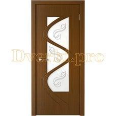 Дверь Вега орех, остекленная