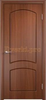 415, Дверь Кэрол итальянский орех, глухая, 11522, 4 010.00 р., 415-01, , Двери облицованные ПВХ