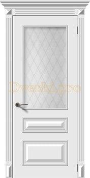 2695, Дверь Багет 3 белая эмаль, остекленная, 22162, 15 075.00 р., 2695-01, , Эмаль, серия Багет
